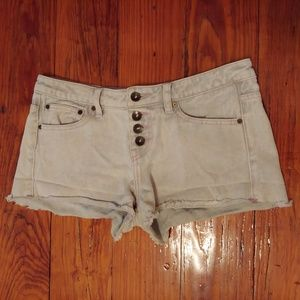 White O'Neill denim shorts